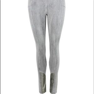 Pants - Elisa Cavaletti Grey Biker Style Leggings